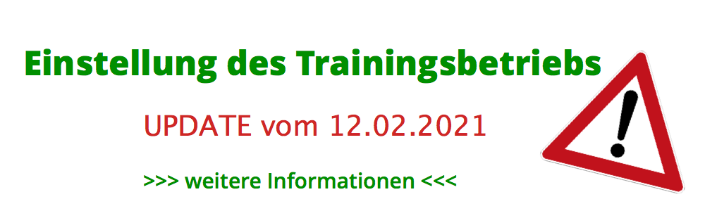 Einstellung Trainingsbetrieb